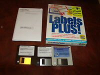 "Labels Plus! 3.5"" floppy disks with box"