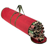 Christmas Wrapping Paper Storage Bag Container Fits 14-20 Gift Wrap Rolls