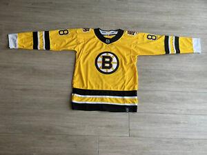 Boston Bruins Jersey Size Large Black & Yellow #88 #Pastrnak