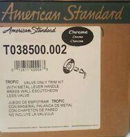 American Standard Tropic 1-Handle Valve Only Trim Kit, Chrome, T038500.002