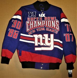 NEW YORK GIANTS 4 TIME SUPER BOWL CHAMPIONS JACKET