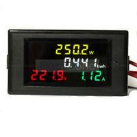 Digital AC 80-300V 100A LCD Voltmeter Ammeter CT KWh Volt Amp Power Panel Meter