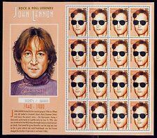 antigua/rock..roll legends- john lennon full sheet of 16s /MNH.good condition
