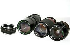 Minolta MD Mount LENS LOT: Quantaray 85-210mm, Tou 75-200mm, Sakar 28-70mm +More