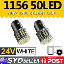 2x High Power UTE Caravan Truck Stop Backup Reverse Light Bulb 1156 50 LED 24V