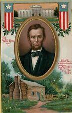1913 Abraham Lincoln C Chapman Artist International Art Publishing Postcard D14