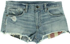 NEW Womens Denim & Supply Ralph Lauren Destroy Cut Off Mini Shorts Size 26 AU 8