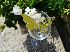 100x farfalle Segnaposto Segnabicchiere VERDE LIMONE PERLATO matrimonio