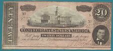 Confederate Currency - $20.00 - February 17, 1864 - X Series - T #67 - Cr #510 -