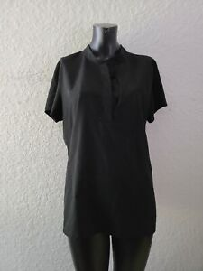 FIGS Technical Collection Womens Large Black Short Sleeve Shirt Top Scrubs