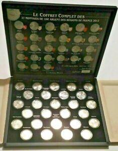 Série FRANCE monnaies 10€ euros des régions 2012 pièces argent coffret complet