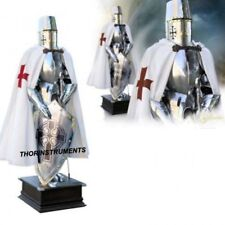 Medieval Knight Battle Suit Of Armor Templar Combat Full Body SCA Armour Stand