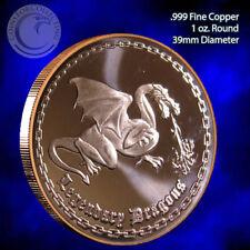 """Legendary Dragon"" 1 oz .999 Copper Round"