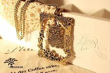 Vintage Owl Necklace Long Chain Sweater New