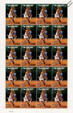 CHRIS EVERT 20-Stamp Sheet (WIMBLEDON TENNIS Championships Player)
