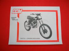 CCM • NOS OEM Clews 1978 US Sales Literature Brochure 500 550 580 600 MX BSA B50