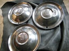 """VINTAGE PLYMOUTH HUBCAP 1950'S 15""""  (3) TOTAL,  Made in USA"""