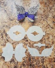 Beautiful Peekbow Butterfly Hairbow Template- Make Your Own Bows