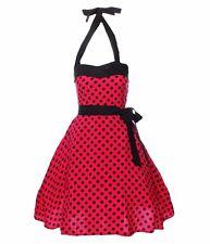 Rockabilly 50er Kleid Petticoat Tanzkleid Karneval Polka Pin Up Partykleid .