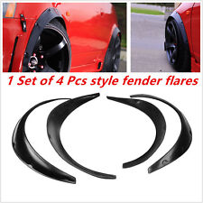 Universal Black Fender Flares 4 Piece Flexible Yet Durable Polyurethane For Car