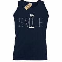 Hombre Sonrisa Palmeras Camiseta Gráfica Playa Trasero Océano Estampada sin