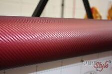 Fibra De Carbono Rojo Vinilo Hoja De Adhesivos A4 0.2m(7.9in)x 0.3m(11.8in)