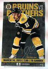 Gregory Campbell Boston Bruins Signed 2013 Game Day Roster Poster 11x17