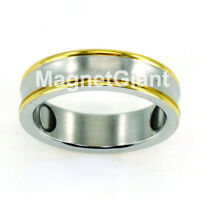 Two tone Stainless Steel Magnetic Ring size 6, 7, 8, 9, 10, 11, 12