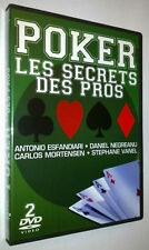 COFFRET 2 DVD POKER - LES SECRETS DES PROS - ESFANDIARI / NEGREANU / MORTENSEN..