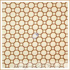 BonEful Fabric Cotton Quilt Yellow Brown Bee Hive Honey Comb Pooh Calico S SCRAP