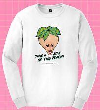 Nina Bite Long Sleeve T-shirt Peach Gay Drag Race Tee Rupaul S9 Bonina Pride Top