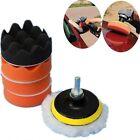 7Pcs Wheel Car Buffing Pad Polishing Kit M10 Drill Adapter Sponge Foam Buffer