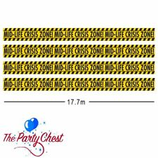 58FT MID LIFE CRISIS CAUTION TAPE Adult Birthday Party Banner Decoration 120249