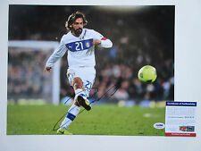 ANDREA PIRLO SIGNED 11X14 PHOTO PSA/DNA COA AC51878 ITALY SOCCER WORLD CUP JUVE