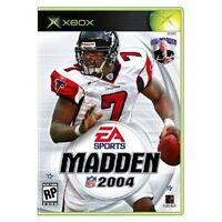 Madden NFL 2004 Xbox For Xbox Original Football Very Good 7E