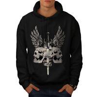 Wellcoda The Last King Death Mens Hoodie, Skull Casual Hooded Sweatshirt