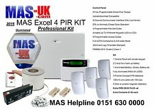 Texecom Excel Proffesional Alarm KIT with LCD keypad and 4 passive infrareds