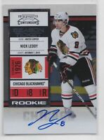 2010-11 Playoff Contenders #127 Nick Leddy Auto Rookie RC