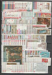 s38460 SMOM MNH** 1966/1980 Collezione completa 185v +14 BF + 4 Espr. + 16 Tasse