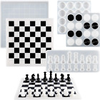 Suhome Chess Board Silicone Resin Molds Set, Checkers Board Crystal Epoxy Resin