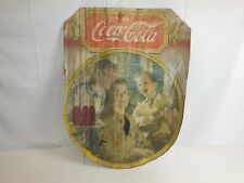 Vintage/Antique 1940s Original Coca-Cola Vertical Cardboard Insert Litho Sign