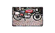 Bianchi Tonale Motorbike Sign Metal Retro Aged Aluminium Bike