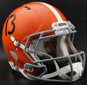 CLEVELAND BROWNS 75th ANNIVERSARY Authentic Football Helmet ODELL BECKHAM JR.