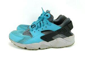 NIKE Air Haurache Run Ultra Cool 318429-408 Womens 12 M Turquoise Gray Sneakers