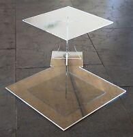 Tortenständer Acryl Etagere Hochzeit 2 Etagen Plexiglas 25x25 30x30 cm