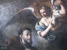 San Francesco e l'angelo Lombardia XVII secolo/inizio '600 Olio su tela cm114x87