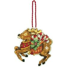 Reindeer Christmas Tree Ornament Counted Cross Stitch Kit