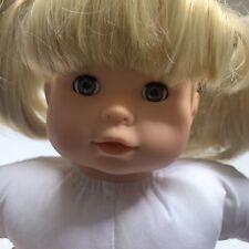 Gotz Classic 15� Baby Doll Soft Body Vinyl Limbs Blonde Hair Blue Eyes Euc