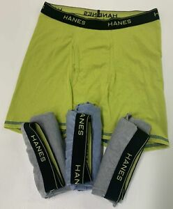 HANES XL Boys' Boxer Briefs NEW, NOT IN PACKAGE X-Temp 4 Pack Multicolor