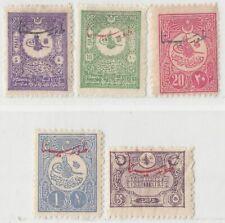TURKEY 1916  ISSUE FULL SET UNUSED MICHEL 348/52 = ISFILA 697/701